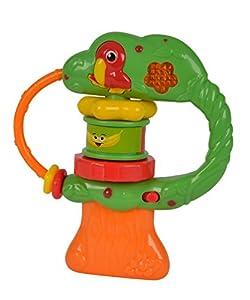 ABC - Sonajero árbol con música, Color Verde / Amarillo / Rojo / Azul (Simba 4011940)