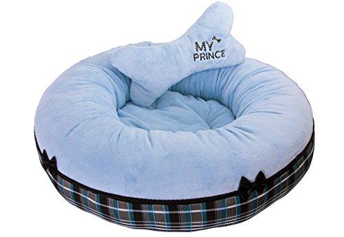 hundeinfo24.de CopcoPet – Runde Hundebett Nelli Microfasersoff – Blau Gr.: Ø ca. 65 cm