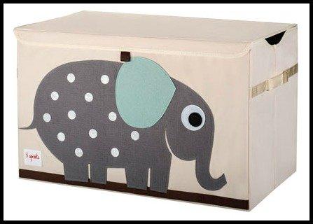 ✮ 3Sprouts ✮ baúl de juguete para niños 100% poliéster   caja...