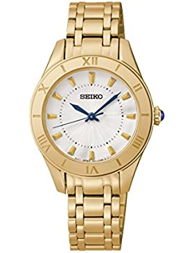 Seiko Damen-Armbanduhr Analog Quarz Edelstahl beschichtet SRZ434P1