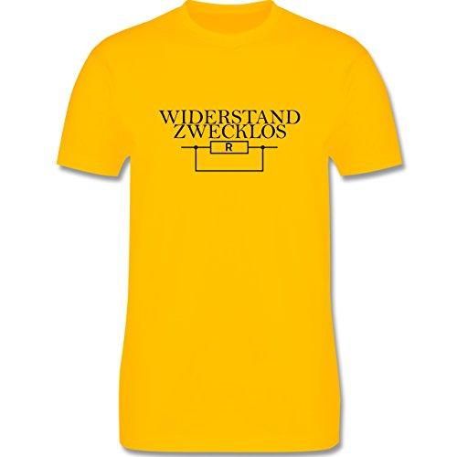 Lehrer - Widerstand zwecklos - Herren Premium T-Shirt Gelb