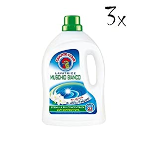 3x Chante Clair Lavatrice weiße Moschus Waschmittel 1,82 Lt 23 waschen washe