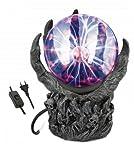 Lampara de Plasma Mano Bola Magica de luz relampagueante, Esfera de Decoracion, Fiestas Dormitorio, hogar, Regalo, Escritorio Albainox 33918 + Portabotellas de regalo