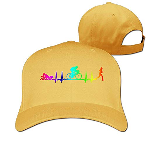 Zcfhike Frauen Männer Triathlon Heartbeat-3 Verstellbare Kappe Multicolor87