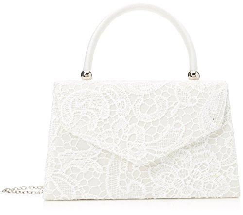 Swanky Swans Damen Jena Clutch, Elfenbein (Ivory), 6.5x16x24 cm (Damen Elfenbein Handtasche)