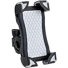 Soporte móvil bicicleta Motocicleta universal AGPtek para Smartphone, GPS y otros dispositivos de 3,5 a 6.5 pulgadas, color negro