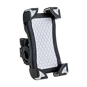 Supporto Bici Smartphone Universal AGPtek per smartphone, GPS e altri dispositivi da 3,5 a 6,5 pollici, colore nero