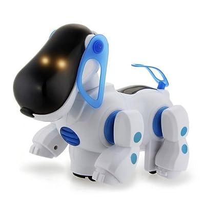 Azul Robótica electrónico Ruta de mascotas perro de perrito de juguete para niños con música ligera