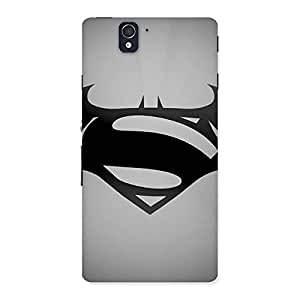 Radiant Super Clash Grey Back Case Cover for Sony Xperia Z