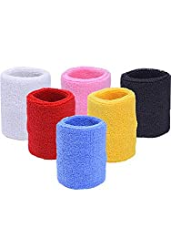 6 Piece of Colorful Sport Sweatband Basketball Football Wrist Band