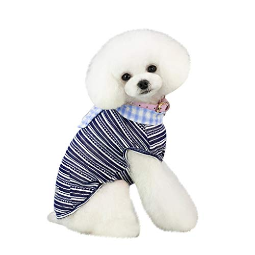 Hawkimin Haustier Weste, Smile Bequem Mode Frühling und Sommer Bedruckte Gestreift Hunde T-Shirt Patchwork Farbe Hund Kostüm Welpen Kleidung Pullover