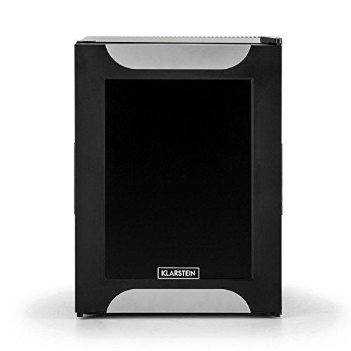 Klarstein Happy Hour - Minibar, Mini réfrigérateur, 32 L, Silencieux, Classe énérgétique A+, noir/porte décorée