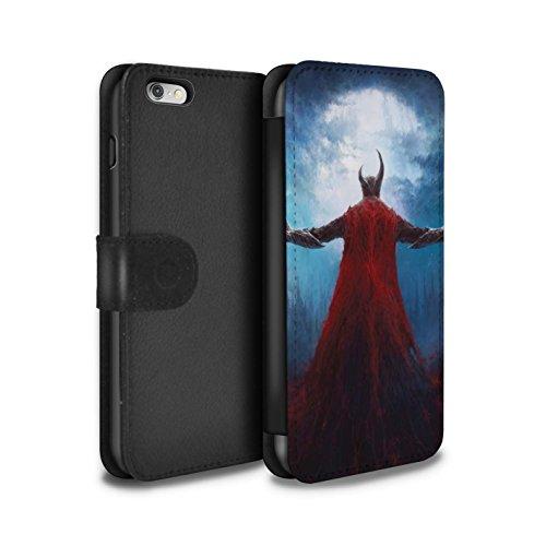Offiziell Chris Cold PU-Leder Hülle/Case/Tasche/Cover für Apple iPhone 6+/Plus 5.5 / Pack 6pcs Muster / Dämonisches Tier Kollektion Dunkelste Stunde