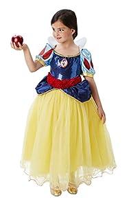 Princesas Disney - Disfraz de Blancanieves Premium para niña, infantil 5-6 años (Rubie