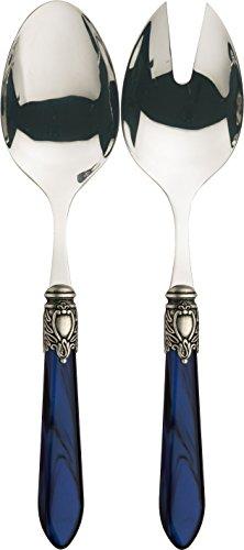 Bugatti oxb2m-n3214/15Oxford, 2-teiliges Set-Service Salatbesteck Edelstahl/ABS Blau 30,5x 14x 3cm Pearl Serving Fork
