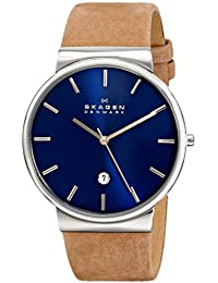 Skagen Herren-Armbanduhr Analog Quarz Leder SKW6103