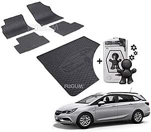 Rigum Opel Astra K Sports Tourer 2015 Gummimatten Gummi Kofferraumwanne Set Parfüm Für Auto Auto