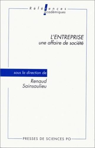 L'entreprise, une affaire de socit, dition 1992