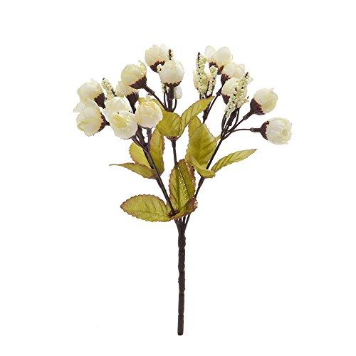 Moonvvin 5auf 15-Künstliche Seide gefälschte Blumen Blätter rosa Hochzeit Blumen Dekor Bouquet, 2Stück J - Blumen-reiniger-spray Seide,