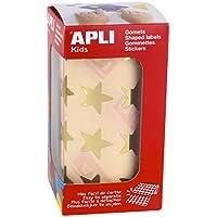 APLI Kids - Rollo de gomets estrella grande, color oro