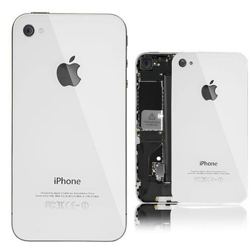 iDigital Für iPhone 4 Glas Backcover Akkudeckel Rückseite Weiß !! Gratis Torx !! (Nicht geeignet für das iPhone 4S) (Iphone 4 A1332)