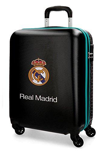 Real Madrid Rm Leyenda Equipaje de Mano, 55 cm, 38 Litros, Negro