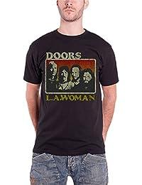 The Doors LA Woman distressed print Herren Nue Schwarz T Shirt all sizes