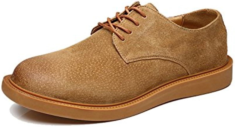 Hongjun-scarpe Scarpe Uomo Uomo Uomo 2018, Scarpe Stringate Basse da Uomo Stile Oxford (Coloree   Giallo, Dimensione   44 EU) | Online Store  4218ad