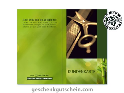100 Stk. Kundenkarten für Friseure, Coiffeure, Haarstudios, Haarstyling K593