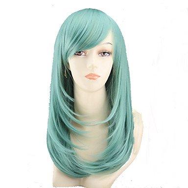 HJL-cos couleur perruque de bande dessin¨¦e longue poire fleur a un long rouleau de menthe verte perruque vendre comme des petits pains , green