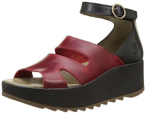 Fly London Women KEVA976FLY Heels Sandals, Red (Red/Black 002), 6 UK 39...