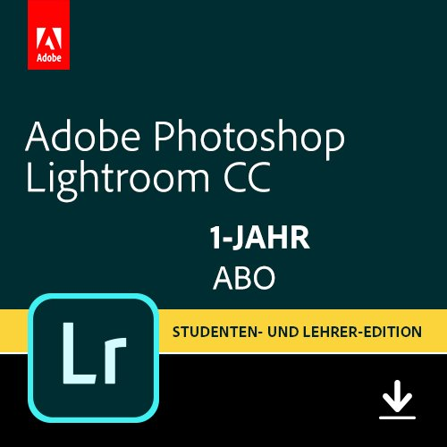 Adobe Photoshop Lightroom CC-Abo Student und Teacher| 1 Jahreslizenz | PC/Mac Online Code & Download