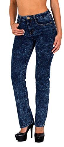 by-tex Damen Jeans Damen Röhrenjeans Damen Hose Hochbund in vielen Designs bis Übergröße Gr. 52, 54, 56 # J21