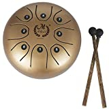 Luerme Profesional Pan Drum 5,5 Pulgadas Mini tambor de acero Tongue Handpan Brahma Drum Hang...