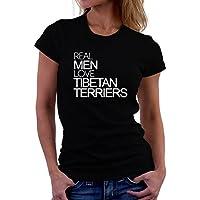 Maglietta da donna Real men love Tibetan Terrier