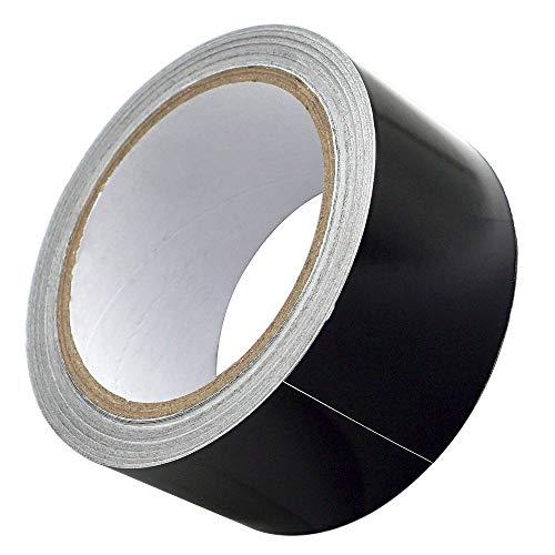 Akuoly Aluminiumband Aluband Selbstklebendes Thermoshield schattierung Hitzeschutzband Aluklebeband, 50mm breit 20m lang schwarz