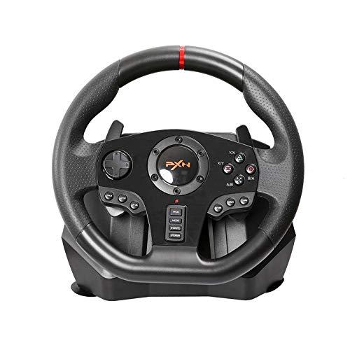 Racing Wheel, 900 Grad-Motor Vibration Fahren Sport Gaming Racing Wheel mit Responsive-Gang und Pedale für PS4, PS3, PC, X360, Switch