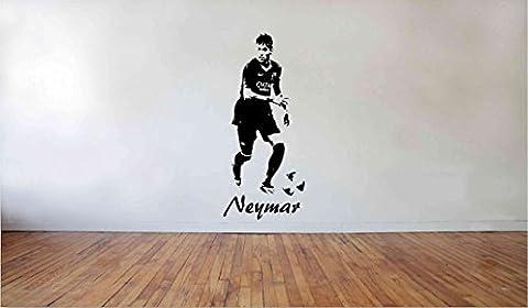Jays wall art Stickers muraux en vinyle Motif joueur de football du FC Barcelone Neymar Da Silva Taille L 130x 56cm