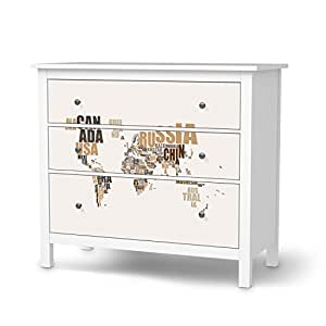 m bel folie f r ikea hemnes kommode 3 schubladen muster dekorfolien m bel folie sticker. Black Bedroom Furniture Sets. Home Design Ideas