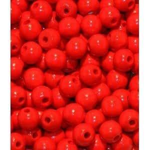 110 Holzperlen 6mm rot speichelfest & schweißecht Made in Germany