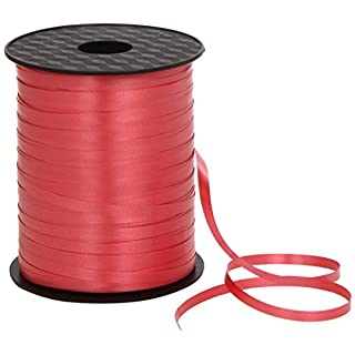 Amscan International 500m x 5mm Balloon Ribbon (Red)