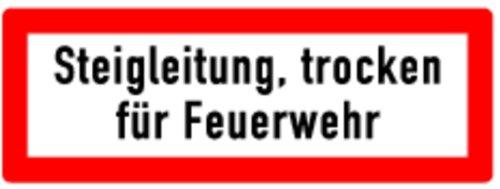LEMAX® Schild Alu Steigleitung trocken für Feuerwehr 105x297mm