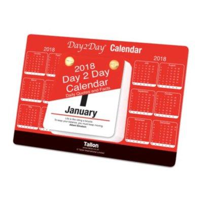 Tallon 2019 täglichen Desktop Stand-Up Tear-Off Block Kalender, tägliche Zitaten und Fakten
