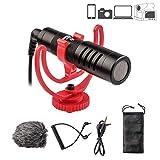 VILTROX - Microfono compatto per videocamere Canon Nikon DSLR e per smartphone, Mac, iPad, tablet