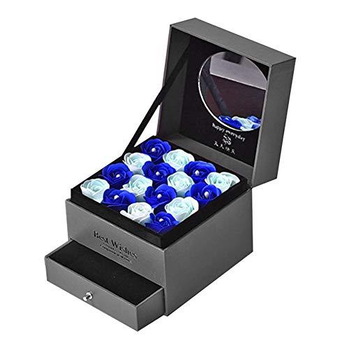 JUNERAIN Geschenkboxen-Set mit Blume AFFE Rosa auf Doppellagig A
