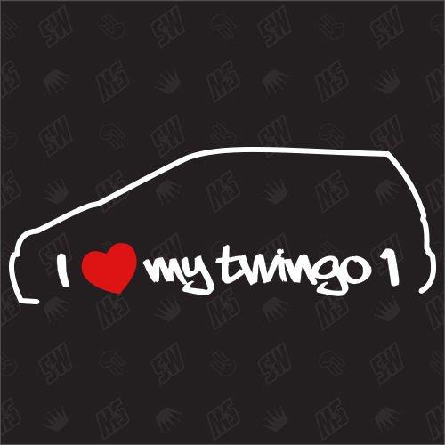 I Love My Renault Twingo 1 ? Stickers, Bj. 93?07