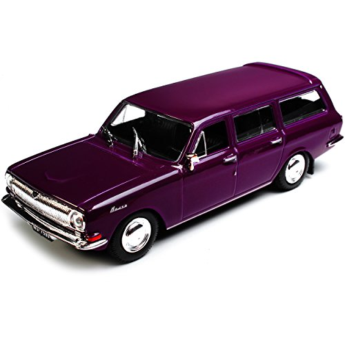 Preisvergleich Produktbild Wolga GAZ Kombi M24-02 Kombi Violett 1970-1987 1 / 43 Modellcarsonline Modell Auto
