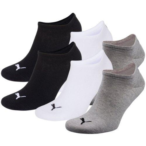 PUMA Unisex Sneakers Socken Sportsocken 6er Pack grey-white-black / grey-white-black 882 - 35/38 -