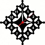 Vkcollection Wooden Wall Clock For Home Latest Design For Living Room Decorative Wall Clock 12x12 Inch (Black)