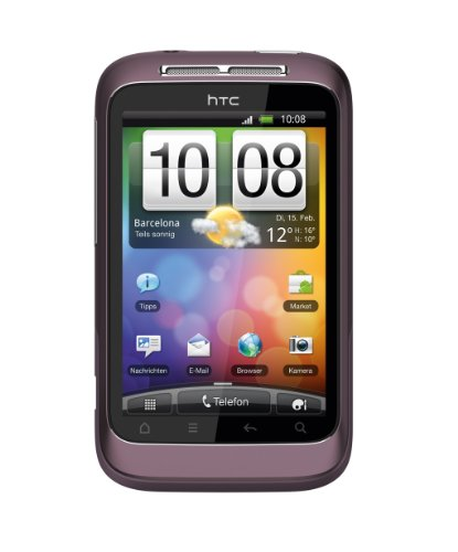HTC Wildfire S Smartphone 8,13cm (3,2 Zoll) WVGA Touchscreen, Android OS, 5.0 Megapixel Kamera) purple (Htc Wildfire S)